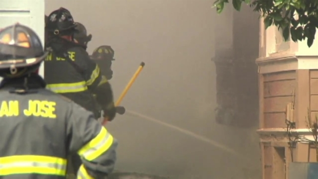 [BAY] RAW VIDEO: San Jose Firefighters Respond to 4-Alarm House Fire