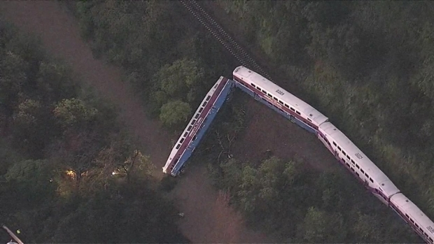 Raw Video: Scene of Train Derailment Tuesday Morning