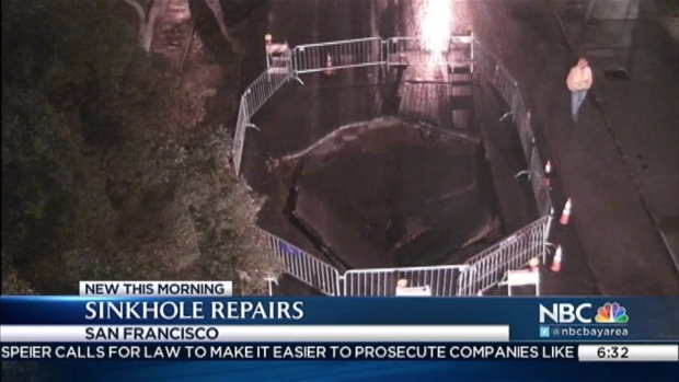 [BAY] Sewer Line Breaks Creating Sinkhole in Pacific Heights