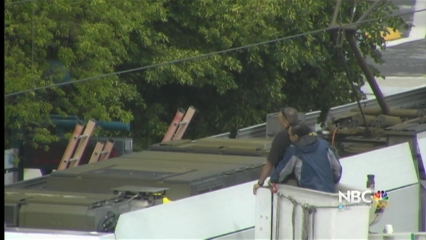 VTA Standoff With Man Atop Train Heads Into Tenth Hour