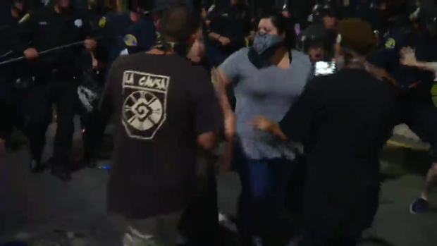 [BAY] RAW VIDEO: Anti-Trump Protesters Get Raucous in San Jose