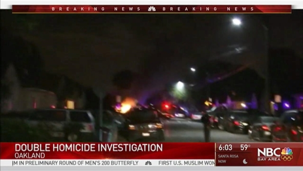 Oakland Police Investigate Double Homicide, Fire