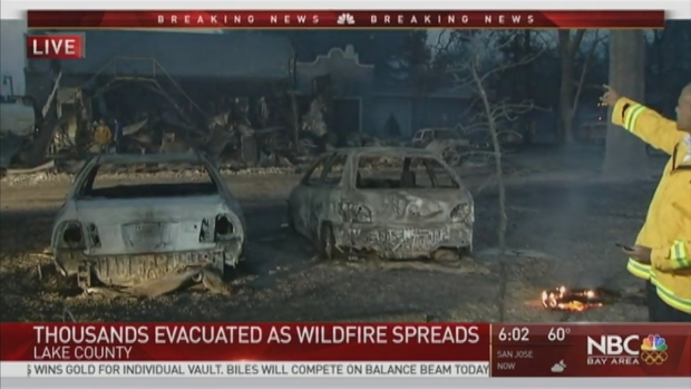 [BAY] 4,000 People Evacuated From Homes After Devastating Clayton Fire Grows to 3,000 Acres
