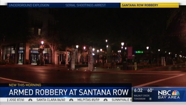 Armed Robbery at Santana Row in San Jose, Victim Says Held Up at Gunpoint