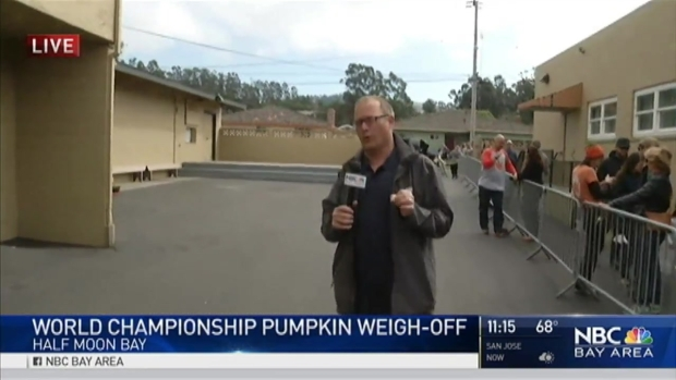 'I'm Going to Crush It:' Farmers Line Up to Weigh Gourds in the Annual Pumpkin Weigh-Off in Half Moon Bay