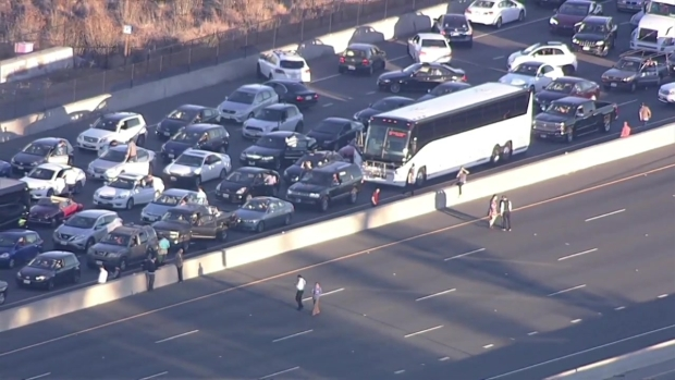 RAW: U.S. Highway 101 Comes to a Standstill After RV Fire