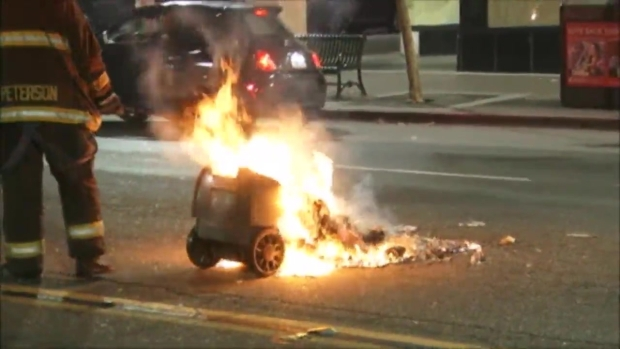 RAW: Protests in Bay Area After Trump Win