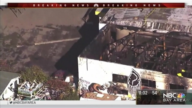 36 Dead in 'Ghost Ship' Warehouse Fire in Oakland, Recovery Efforts Stalled