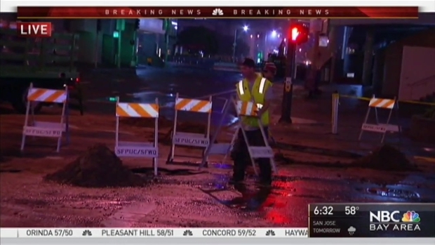 [BAY] Water Main Break Floods Parts of San Francisco Moscone Center, Unfinished Subway