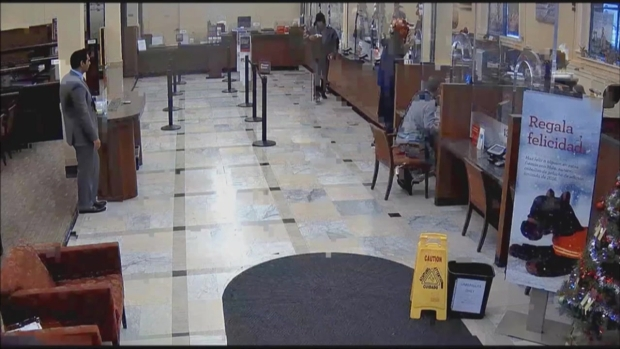 RAW: Surveillance Video Captures Bank Robbery in Berkeley