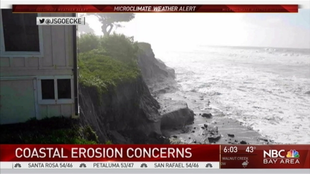 [BAY] Violent Waves, Crashing Trees Batter Peninsula Coast, Ranger's House Teeters on Cliff