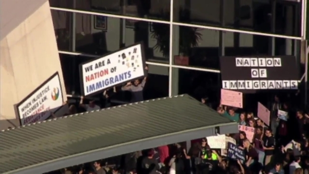 [BAY] RAW: Google Employees Rally Against Immigration Orders