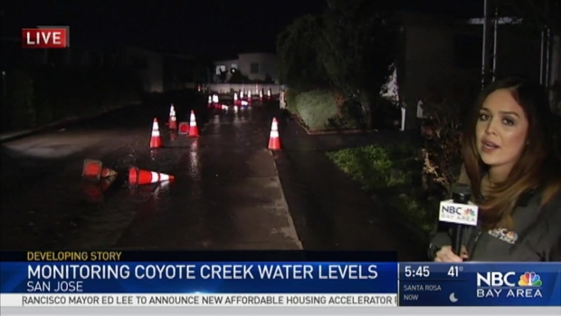 NBC Bay Area's Vianey Arana Monitors Coyote Creek Levels