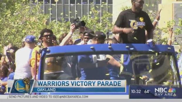 Draymond Green Rallies Dub Nation at Championship Parade