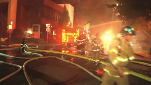 RAW: Three-Alarm Fire Guts Multiple Businesses in Lafayette