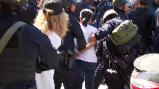 RAW: Two Sides Face Off During Patriot Prayer Protest in Berkeley