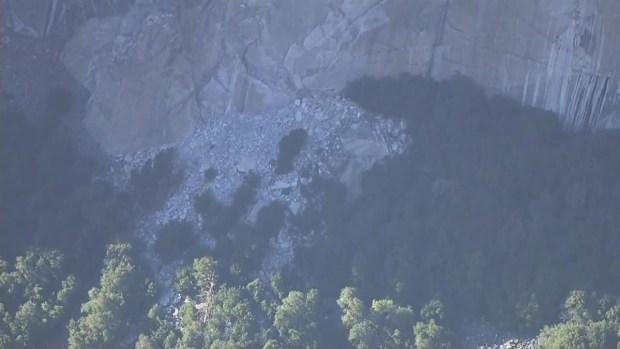 RAW VIDEO: Rock Slide at Yosemite's El Capitan
