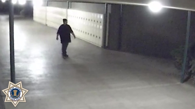 RAW: Police Release Surveillance Video of School Sexual Assault Suspect