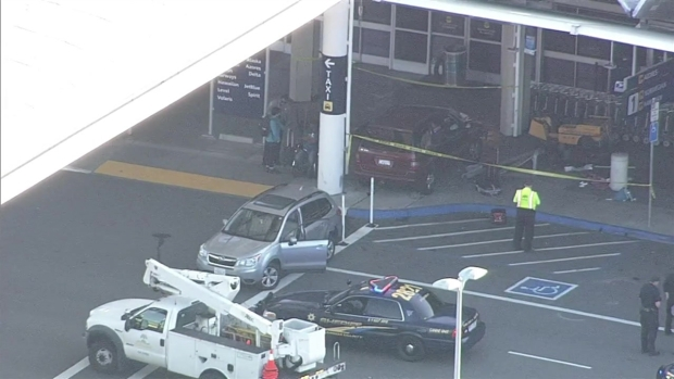 [BAY] RAW VIDEO: Vehicle Crashes Into Terminal 1 at Oakland International Airport