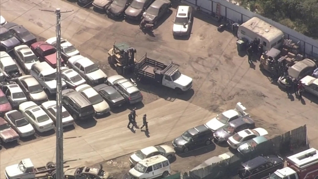RAW VIDEO: Hazmat Crews Investigate Possible Radiation Incident