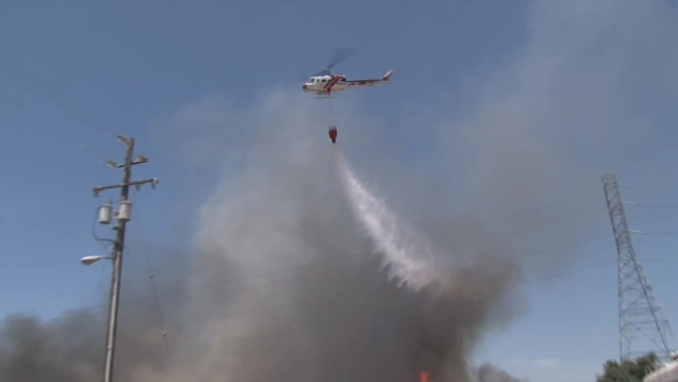 RAW VIDEO: 3-Alarm Fire Prompts Evacuations in Sonoma