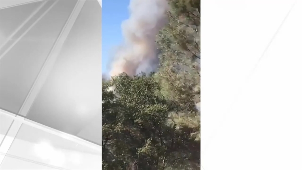 [BAY] RAW: Snapchat Video Shows Snell Fire Burning in Napa County