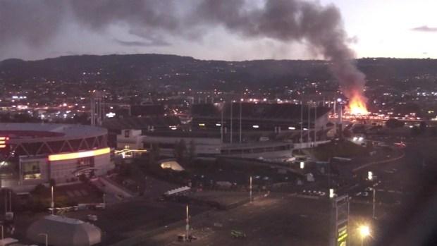 [BAY] Fire Breaks Out at Warehouse Near Oakland Coliseum