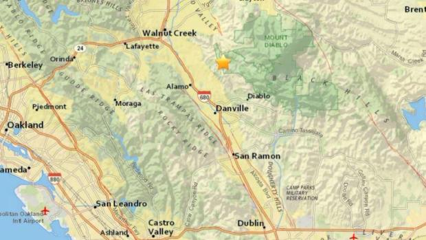 [BAY] Magnitude 3.3 Earthquake Rattles Near Alamo: USGS