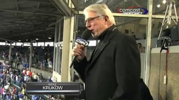VIDEO: Krukow Sings at Cubs Game