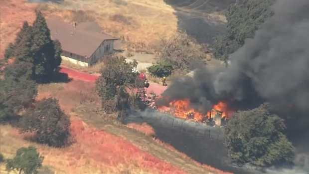 [BAY] Morgan Hill Brush Fire Burns 40 Acres