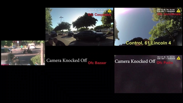 Multicam View of Police Takedown