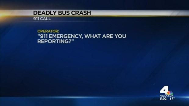 [LA] Bus Crash Investigators Turn to 911 Tapes for Clues
