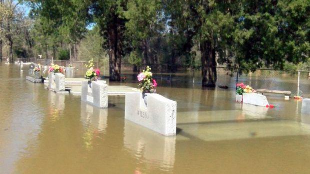 Floods Unearth Caskets in Louisiana