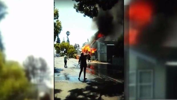 [BAY ML 6A VO ONLY] New Mobile Home Donation for San Jose Family Devastated by Fire