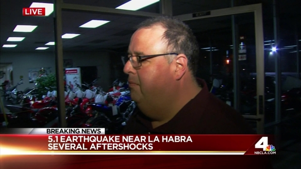 [LA] La Habra Councilman Reacts to 5.1 Earthquake