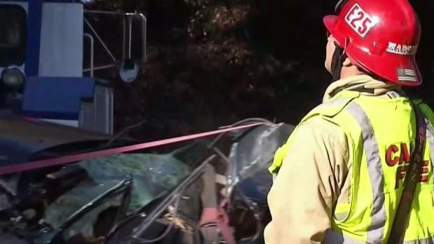 Man Killed When Storm-Fueled Rock Slide Pushes Car off Highway 121 in Napa County