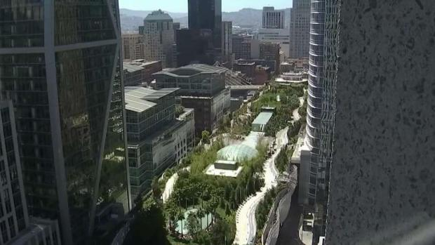 [BAY] Rooftop Pathway at SF Transbay Terminal Being Replaced