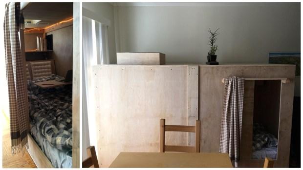 8-ft. 'Sleeping Pod' in Bay Area Living Room