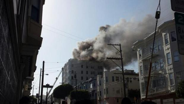 San Francisco Firefighters Battle Rooftop Blaze at Castro Apartment