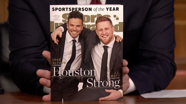 [NATL] 'Tonight': Jimmy Fallon Reveals JJ Watt Is Sports Illustrated's 2017 Sportsperson of the Year