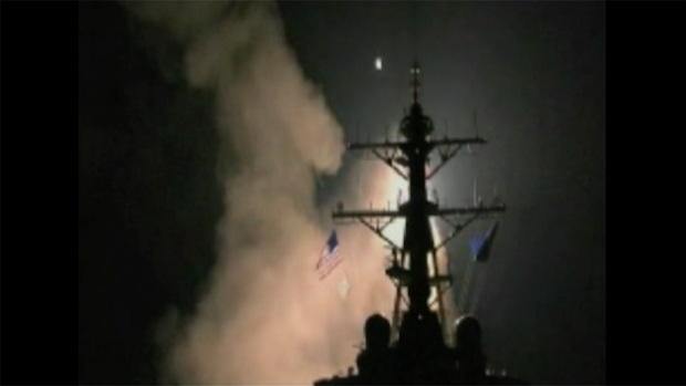 [NATL] Watch: US Warships Launch Tomahawk Missiles at Syria