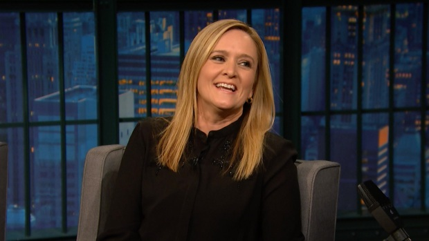 [NATL] 'Late Night': Samantha Bee Scribbled Her Name Into John Oliver's Desk