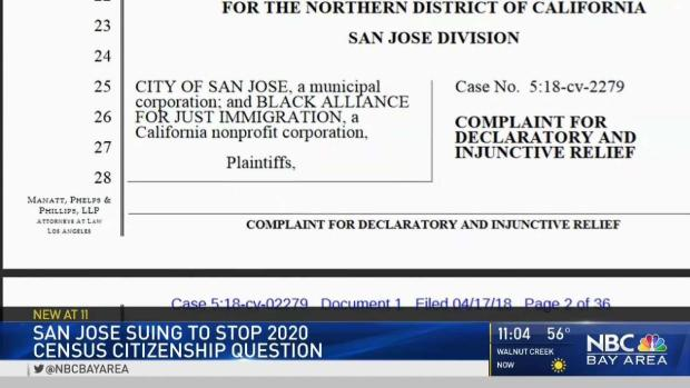 [BAY] San Jose Sues to Stop 2020 Census Citizenship Question