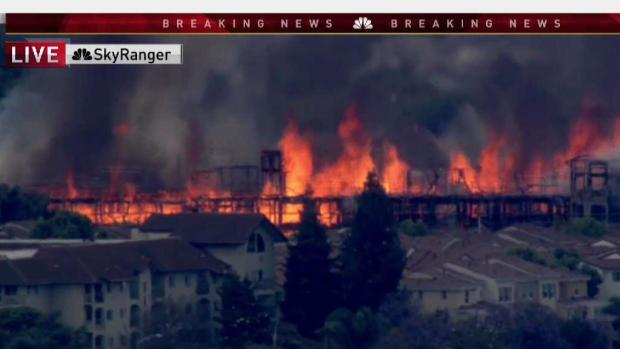 Santa Clara Construction Site Fire Full Coverage