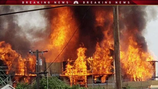 Large Fire at Condo Construction Site Sends Plumes of Smoke