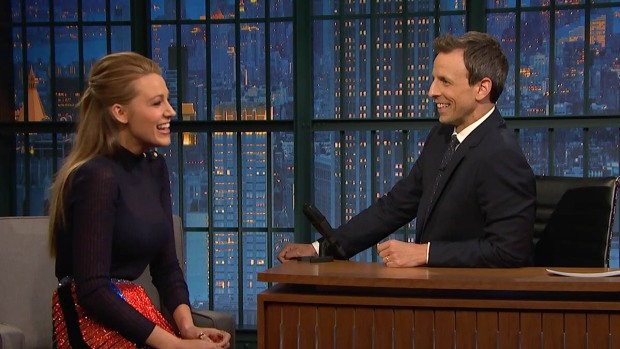 """[NATL] WATCH: Blake Lively """"Totally Froze"""" When She Met President Obama"""