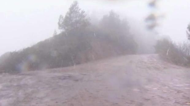Snow Falls at Summit in the Santa Cruz Mountains