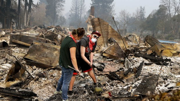 [NATL-BAY GALLERY]North Bay Wildfires: The Smoldering Aftermath