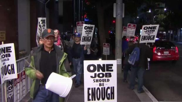 [BAY] Striking Marriott Hotel Workers March in San Francisco