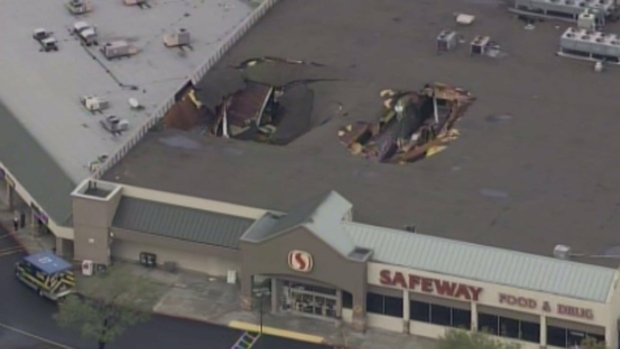 [BAY] Repairs Continue For Partial Roof Collapse at SJ Safeway